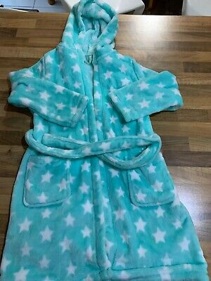 Girls Star Dressing Gown, M&S. Age 5-6 Years. VGC