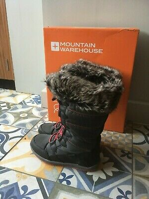 Girls Ladies Mountain Warehouse Warm & Cosy Fur Lined Boots UK 2 EU 34 Boxed