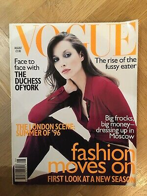 Vintage Vogue Magazine August 1996 Cristy Turlington Birthday Issues 90's Chic