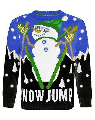 Kids Boys Christmas Jumper Children Girls Xmas Winter Sweater Knit Retro Novelty