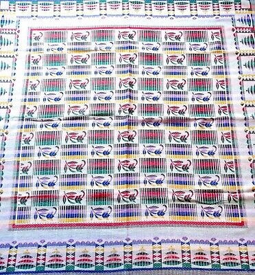 Rare German Avantgarde Bauhaus Suprematism Tablecloth Art Deco Plaid 1925