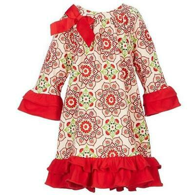 """NEW Rare Editions Girls """"FESTIVE RED FLORAL"""" Size 10 CHRISTMAS Holiday Dress NWT"""