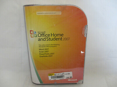 Microsoft Office Home and Student 2007 Computer CD Disc Word Excel PowerPoint