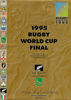 SOUTH AFRICA v NEW ZEALAND RUGBY WORLD CUP FINAL 1995 PROGRAMME