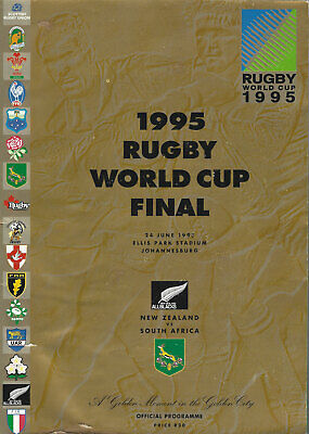 SOUTH AFRICA v NEW ZEALAND RUGBY WORLD CUP FINAL 1995 PROGRAMME GOOD CONDITION