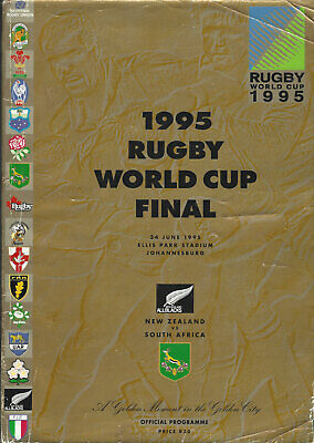 SOUTH AFRICA v NEW ZEALAND RUGBY WORLD CUP FINAL 1995 PROGRAMME ELLIS PARK
