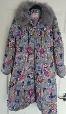 Monsoon Designer Girls  Long, Padded, Winter Coat, Floral Design, 9-10 Yrs 140Cm