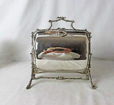 Mappin & Webb Silver Plated Biscuit Warmer Or Keeper English C 1863 - 1898