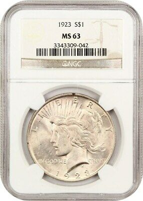 1923 $1 NGC MS63 - Peace Silver Dollar