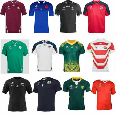 2019-20 World Cup Rugby Jersey short sleeve shirt Football S M L XL-5XL