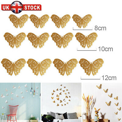 12x Christmas 3D Butterfly Wall Stickers Home Decor Room Decor Sticker Bedroom A