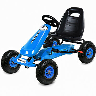 Kids Pedal Powered Go Kart Ride on Toy Cars Racing Cart Bike Pneumatic Tire