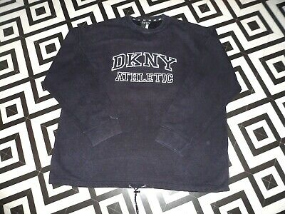Mens 90S Vintage Dkny Sweatshirt Hipster Rave Uk Oversized Gc Xl Spellout