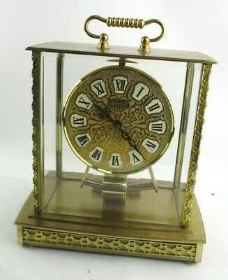 Vintage Kundo Electronic Kieninger Obergfell Mantle Clock W. Germany - Working