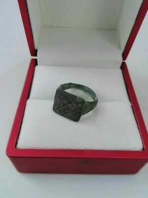 Ancient Roman Ring Bronze Antique Empire Rare Old Authentic Artifact Very Beauty