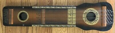 ANTIQUE UKELIN Zither Stringed Musical Instrument 1920' MANUFACTURES ADVERTISING