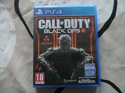Jeu sony PS4: CALL OF DUTY BLACK OPS III – complet