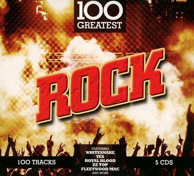 100 GREATEST ROCK 5 CD - VARIOUS ARTISTS (Released 2017)