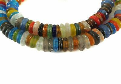 Dutch Donuts Trade Beads Wound Annular Mixed African