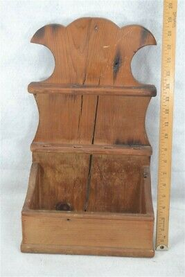 wall box hanging early primitive early spoon rack 19th c antique original