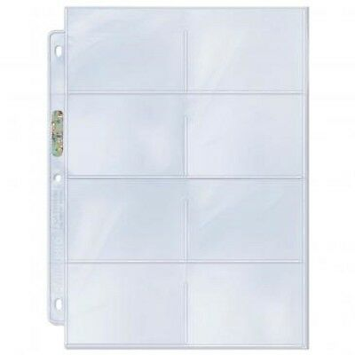 10 loose Ultra Pro 8 Pocket Album Pages Coupon Organizer Storage Card Holders