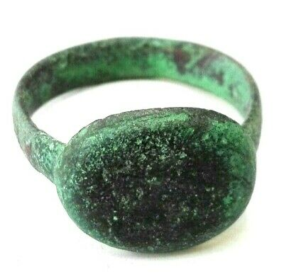 Ancient Roman Ring Bronze Antique Very Beautiful Unique Old Authentic Artifact