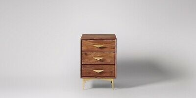 NEW Swoon Volterra Bedside Table Rosewood Mid-century Modern RRP £249 New Other