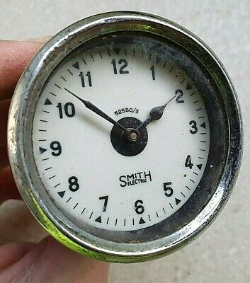 1930s SMITHS 2 inch CLOCK Electric 52mm Pre War Austin Riley MG Vintage Car VSCC