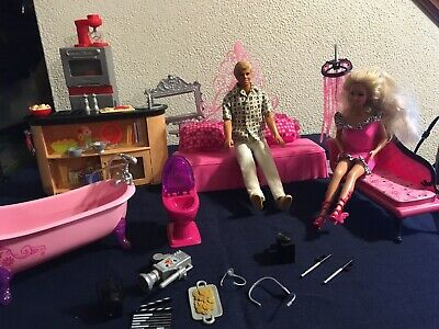 Sensational Barbie Doll House Furniture Living Room Pink Sofa Bed Bralicious Painted Fabric Chair Ideas Braliciousco