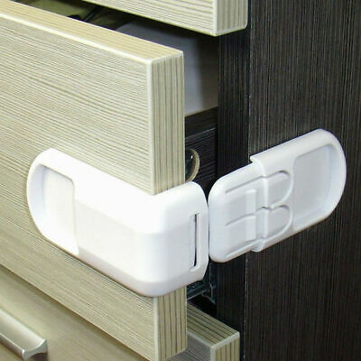 5Pcs Children Door Safety Security Protect Locks Cabinet Drawer Cupboard Doors
