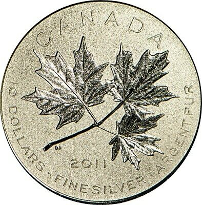 2011 Canada Maple Leaf Forever, Proof 033435/100,000, As Issued Condition 9999Ag