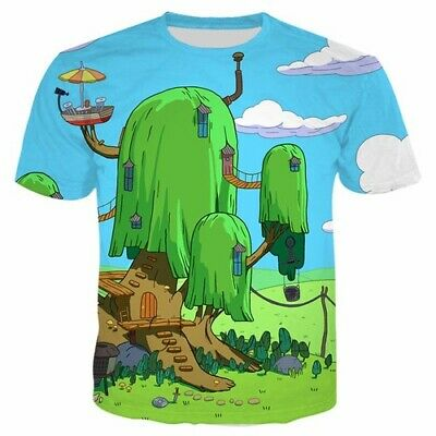 New Fashion Womens//Mens Adventure time Funny 3D Print Casual T-Shirt Y45