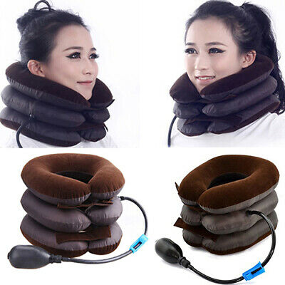Simple Inflatable Neck Traction Collar Pain Relief Cervical Pillow Device Little