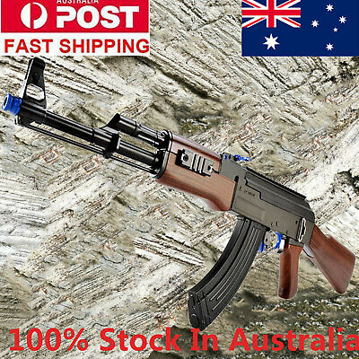 Nylon AK47 Gel Ball Balster Gun Blaster Toy 7-8mm Gel Ball Mag-fed Gun Shot AUS