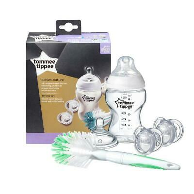 Tommee Tippee Closer To Nature Glass Bottle Feeding Set Free Shipping!