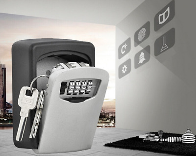 Wall Mounted Key Safe Box Secure Lock Safety 4 Digit Security Outdoor Storage!