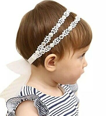 Headband baby hair accessories White Ivory Colour Set Of 2