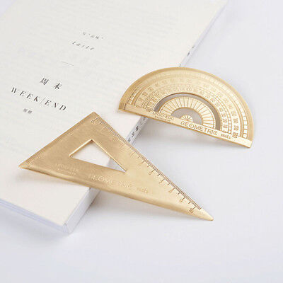 0-180°Degree Protractor Round Rotary Angle Rule Finder Triangle Ruler YI