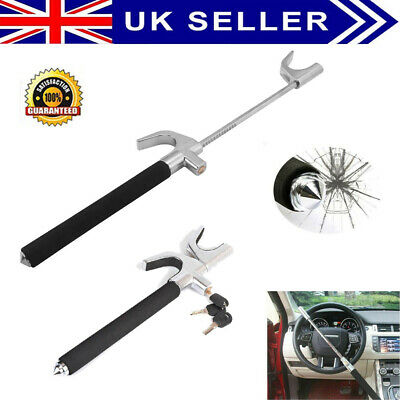 Universal Heavy Duty Car Steering Wheel Lock Anti Theft Clamp Safety Lock+ 3 Key