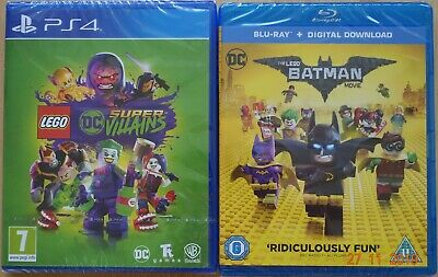Lego DC Super Villains Game & Film Double Pack PS4 (New & Sealed)