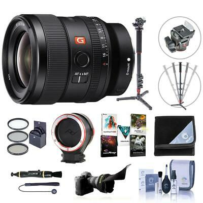Sony FE 24mm F/1.4 GM (G Master) E Mount Lens - With Premium Accessory Bundle
