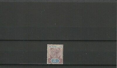 SEYCHELLES - SG11 MLH 1890 8c BROWN-PURPLE & ULTRAMARINE QV