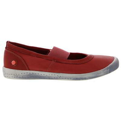 Softinos Ion Womens Ladies Red Mary Jane Ballerina Pumps Size 5-8