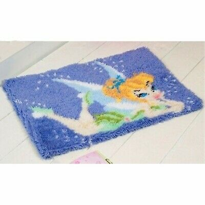 TINKERBELL FAIRY LATCH HOOK RUG KIT from UK Seller, BRAND NEW