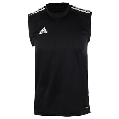 ADIDAS MEN D2M 3S Sleeveless Shirts Jersey Black Running