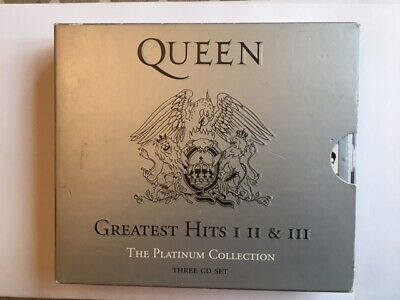 Queen Greatest Hits I II & III The Platinum Collection 3 CDs Parlophone 2000
