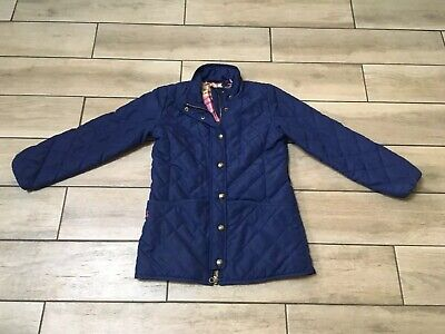 Joules Girls Quilted Navy Jacket Coat Age 11-12