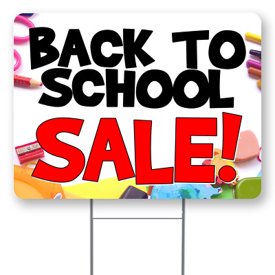 BACK TO SCHOOL SALE 18x24 Inch Sign With Display Options
