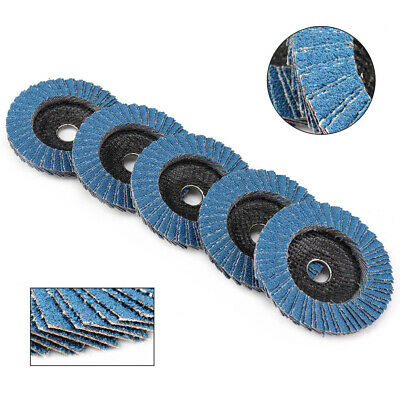 "5Pcs 4"" 100mm Aluminum Oxide Flap Disc Sanding Grinding Wheels for Angle Grinder"