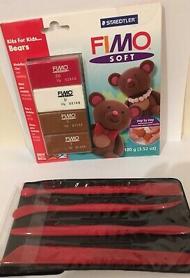 NEW SEALED Staedtler FIMO oven bake Modelling Clay BEARS + Modelling Tools